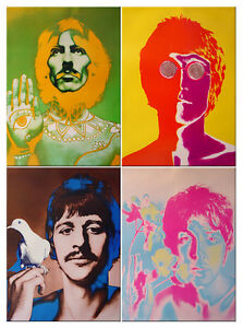 4 posters Richard Avedon 1st edition Beatles VARA original vintage NO REPRINT!