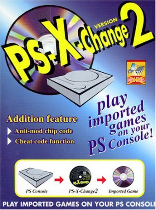 PSX X Change 2 Disc for PS1 Game  and Sony PlayStation System