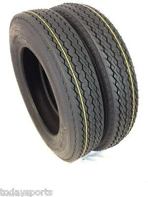 TWO 480x12, 480-12. 4.80X12, 4.80-12 Boat Trailer Tires Load Range B 4 ply