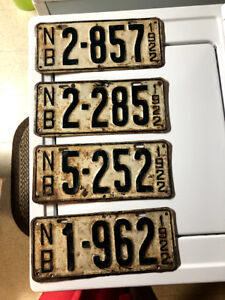 Old New Brunswick License Plates from the 1920's