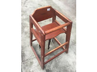 Wooden High Chair , great to keep at grand parents house or as a spare etc. Free local delivery.