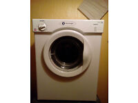 tumble dryer white knight 3kg vented new condition very good genuine reason for sale