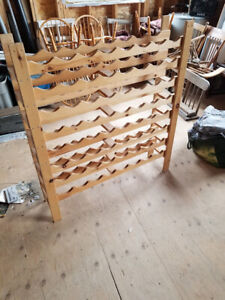 "64 bottle wine rack 43"" wide 48"" tall 9"" deep"