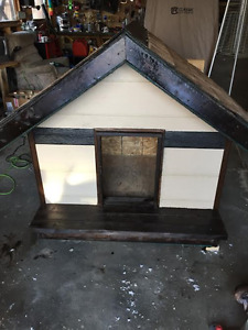 fully insulated,shingled and sided Dog house