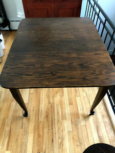 Antique Solid Oak Dining Kitchen Table