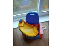 Kids booster seat chair and trays