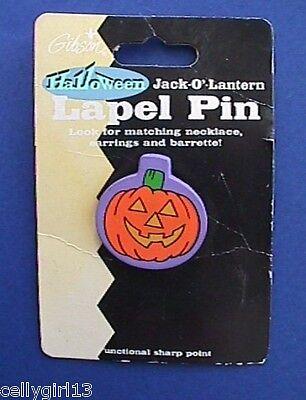 Gibson Halloween Costumes (Gibson PIN Halloween Vintage PUMPKIN JOL Plastic HHoliday Brooch)