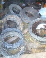 14 rolls of NUMBER 4 Barb Wire $250 firm for all 14 rolls