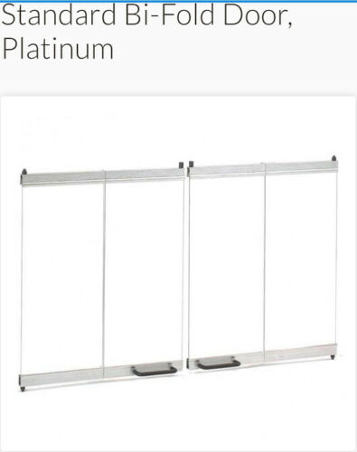 "Superior BDB Standard Bi-Fold Door Platinum / Stainless steel for Fireplace 36"""