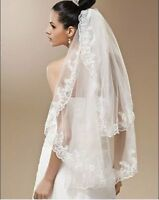 Brand new 2 tier lace adging wedding veil