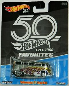 Hot Wheels 1/64 50th Favorites 5-Car Diecast Lot 6-10