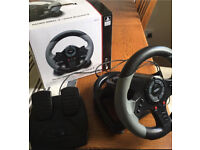 HORI steering wheel and pedals