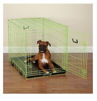 Fashion Lime Green Twist Dog Crate Appeal Training Crates For Dogs - Choose Size