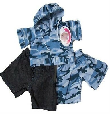Build a Bear FIT Teddy Bear Clothes Blue Camo Jogger Outfit Jeans Bears Clothing
