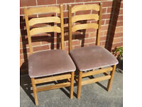 x2 Ladder-back Dining Chairs