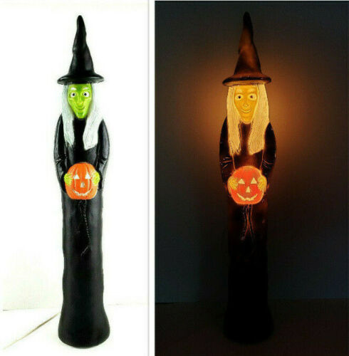 Vintage 1994 Union Don Featherstone Skinny Witch 3ft Halloween Lighted Blow Mold