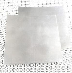 2pcs 304 Stainless Steel Fine Plate Sheet Foil 0.2mm x 100mm x 100mm