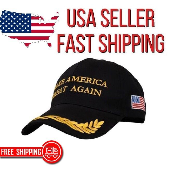 """Embroidered MAGA 'Make America Great Again"""" Military Style Baseball Hat in Black Clothing, Shoes & Accessories"""