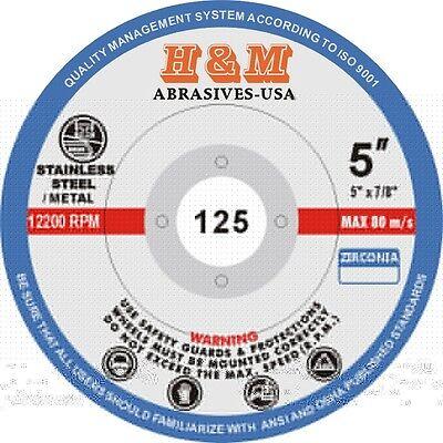 100pcs New Flap Discs 5 X78 60 Grit Zirconium Sanding Grinding Wheel
