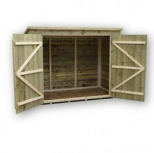 BIKE STORE BIKE SHED 6X4 SHIPLAP PENT TANALISED PRESSURE TREATED TONGUE & GROOVE