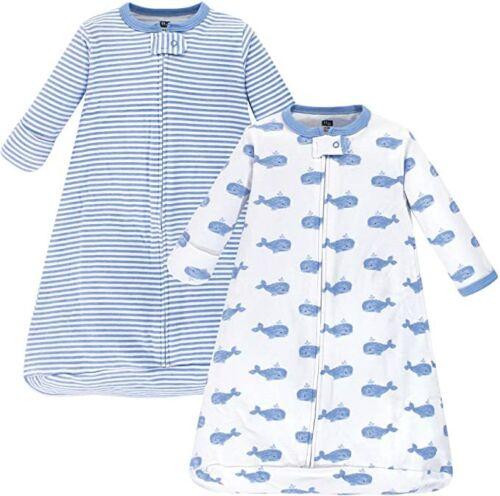 Hudson Baby Unisex Baby Cotton Long-Sleeve Wearable Sleeping Bag, Sack, Blanket