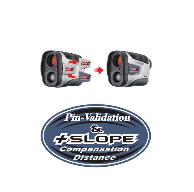 CaddyTek Golf Laser Rangefinder, CaddyView V2 +Slope and Pin