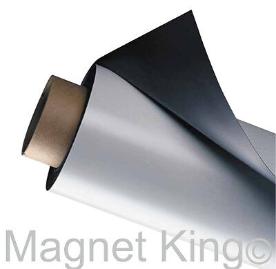 5 Foot Roll Of Flexible Matte White Magnetic Sheeting Medium Weight 24 X 5