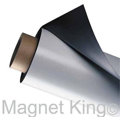 .030 Medium Matte White Flexible Magnetic Sheeting 24 X 10 Magnet Roll