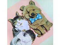 3D Pet Portrait of your Pet by Paper Pawtraits!