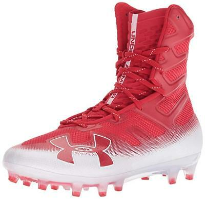 d3eb0d1bfb96 New Under Armour Highlight Mc Molded Football Cleat Mens Size 11 Red/White