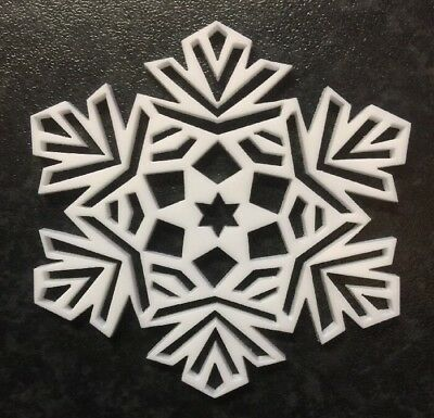 Acrylic Christmas Tree Decoration Snow Flake Laser Cut 3 Mm  White Perspex](Snow Flake Decorations)