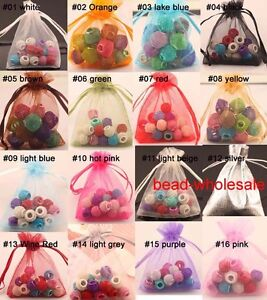 30-100pcs-Organza-Jewelry-Packing-Pouch-Wedding-Favor-Gift-Bags-Any-Color