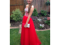 Beautiful prom evening dress ball gown size 12