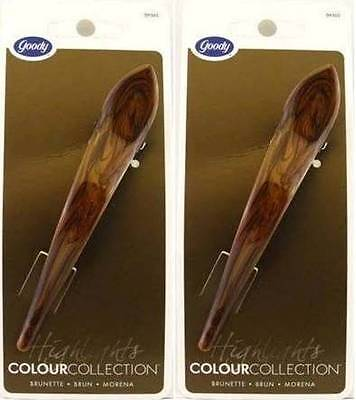 Goody Colour Collection Brunette Salon Hair Clip - 2 Clips