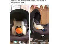 Mothercare first car seat £20