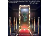 magic mirror photo booth with unlimited visits & prints