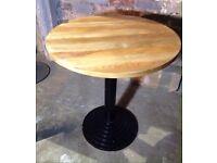 Cast leg table