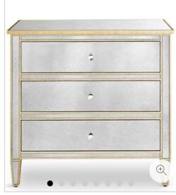 M&S mirrored chest of drawers