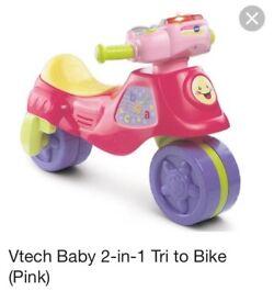 Vtech trike to bike pink