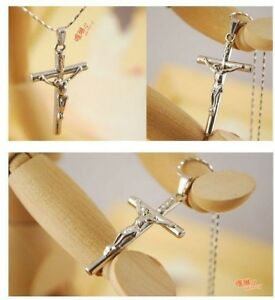 Set of 10 Cross silver plated  Necklace Jesus-Christian fashi