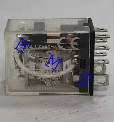 Plug In Relay,8 Pins,Square, 24VAC OMRON LY2N-AC24 Solder Pin Relay Plug-in Relay 8 Pin