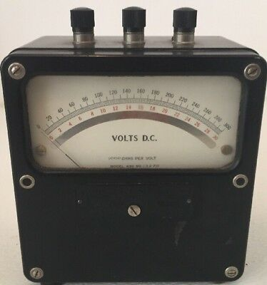 Vintage Weston Electrical Instrument Corp. Model 430 Dc Voltmeter No. 13275
