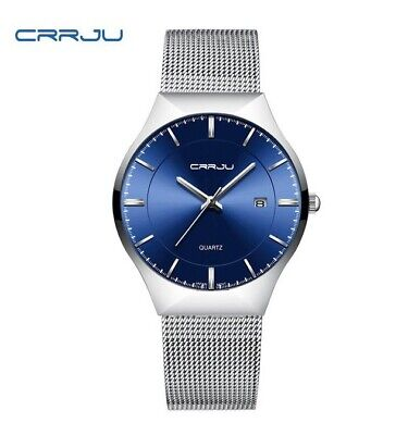 CRRJU  Mens Analogue Watch Quartz Water Resistant. New Battery.