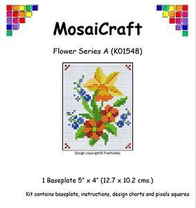 MosaiCraft-Pixel-Manualidades-Mosaico-Arte-Kit-039-Flor-Serie-A-039-Pixelhobby