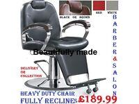 Brand New Heavy Duty Hydraulic Barber Salon Styling Chair, Illuminating Rotating Pole, Waiting Sofa