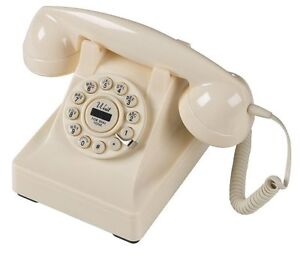 RETRO VINTAGE 1930's CREAM 302 DESK TELEPHONE PHONE NEW IN BOX