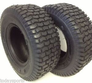 (Set of 2)15X6X6 15X6.00-6 Turf Tires Garden Tractor Lawn Mower Riding Mower