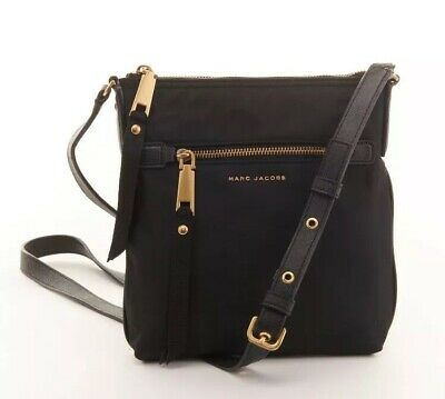 NWT Marc Jacobs Trooper Nylon Crossbody Bag Black, $198