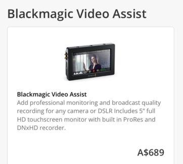 "Blackmagic Design Video Assist 5"" 1080p Monitor /  Recorder"