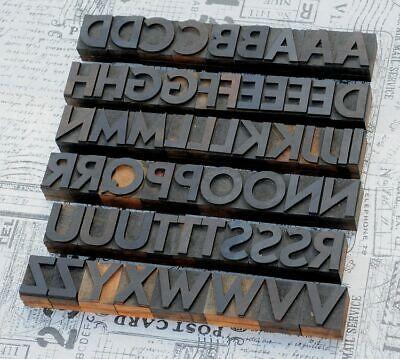 A-z Alphabet 1.42 Letterpress Wooden Printing Blocks Wood Type Vintage Printer